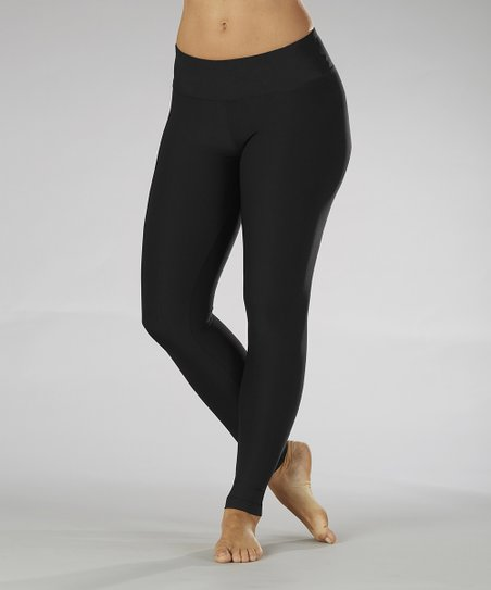 Black Sanded Dry Wik Leggings