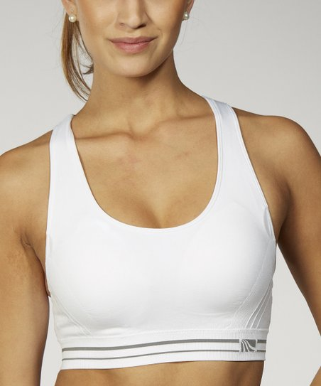 White Seamless Sports Bra