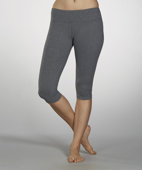 Heather Gray Capri Leggings