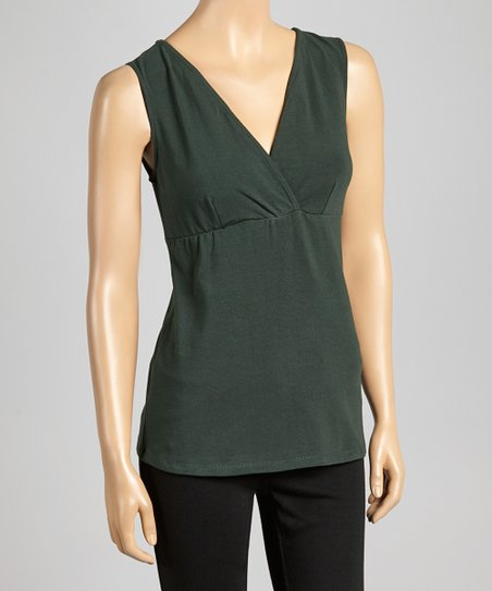 Forest Organic Surplice Yoga Top
