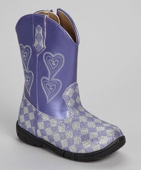 Purple & Silver Glitter Carrie Boot