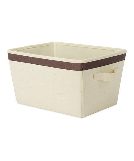 Brown Small Tote Storage Bin