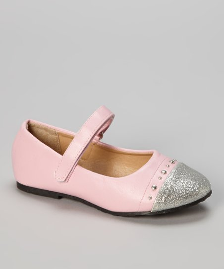Light Pink Glitter-Toe Ballet Flat