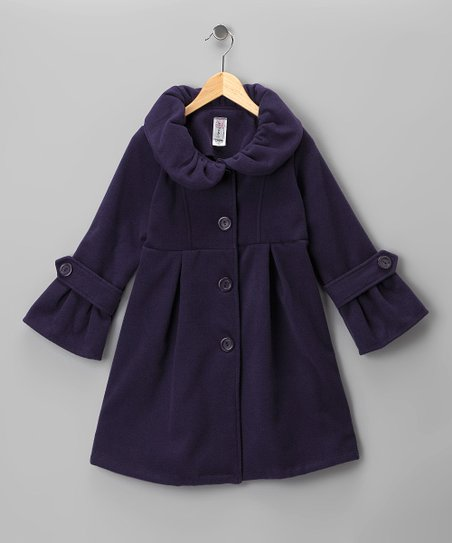 Purple Pleated Peacoat