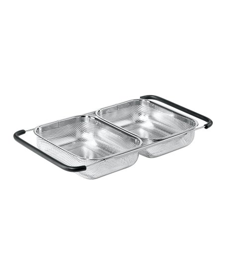 Stainless Steel Over-the-Sink Double Basket Strainer