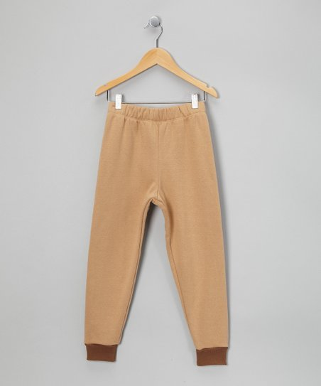 LAPSAKY Tan &amp; Mocha Organic Sweatpants - Toddler &amp; Kids