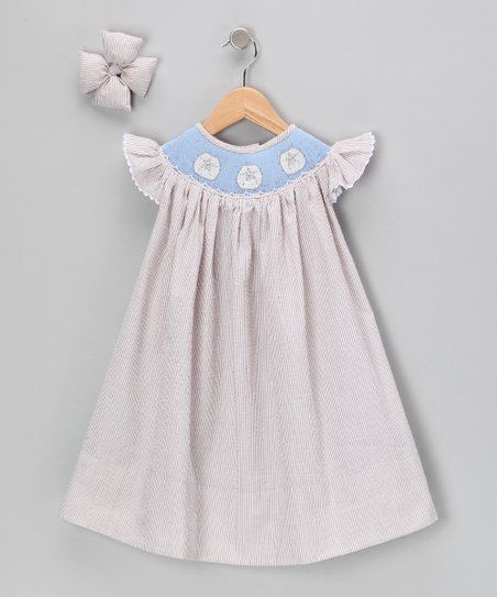 Brown Sand Dollar Dress &amp; Clip - Infant, Toddler &amp; Girls