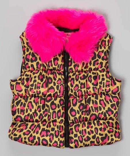 Pink Cat's Cradle Puffer Vest - Toddler & Girls