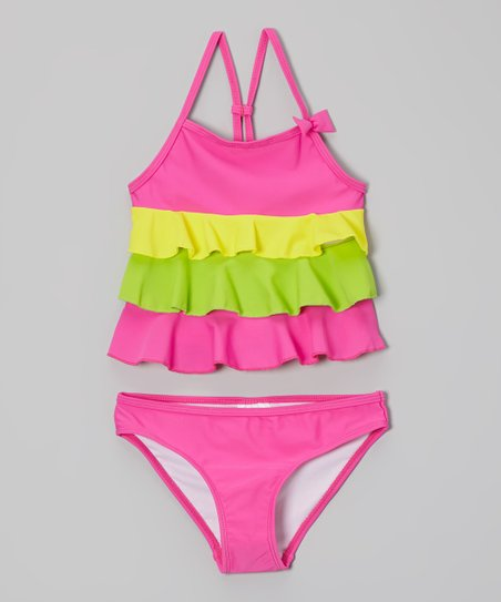 Hot Pink Ella Tankini - Toddler