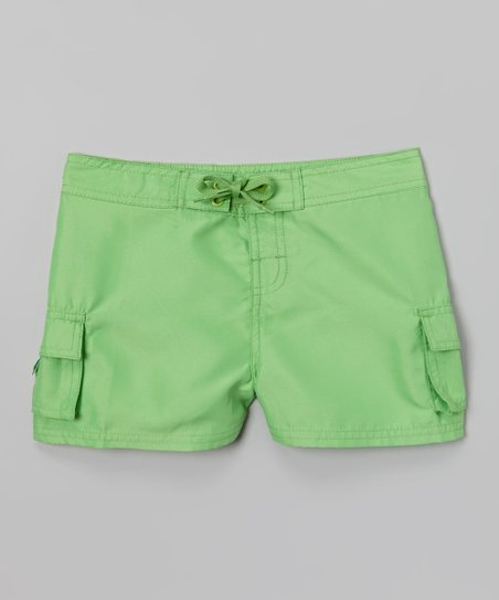 Lime Carla Boardshorts - Girls