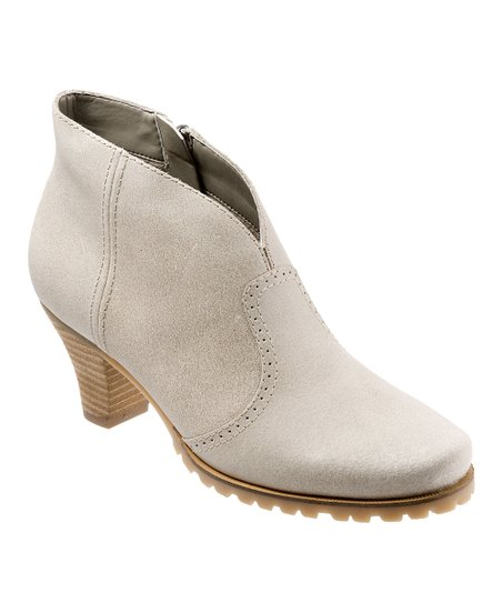 Winter White Leather Dakota Ankle Boot