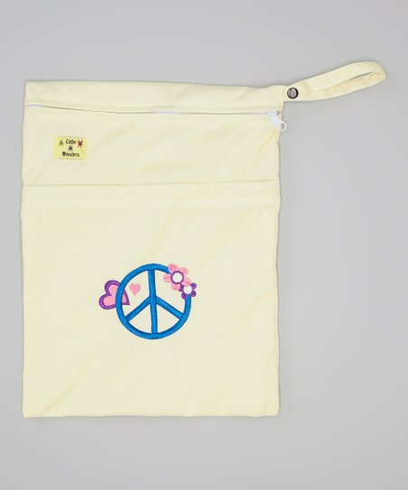 Yellow Peace Wet Bag