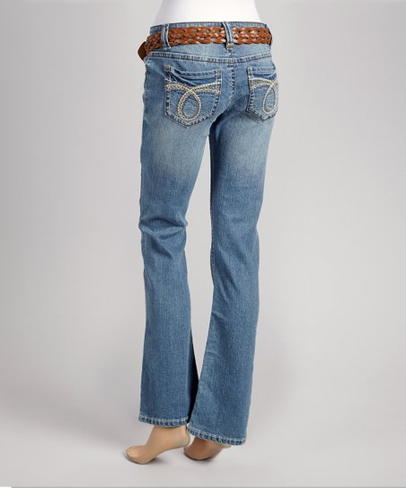 Medium Mascot Destructed Bootcut Jeans - Women