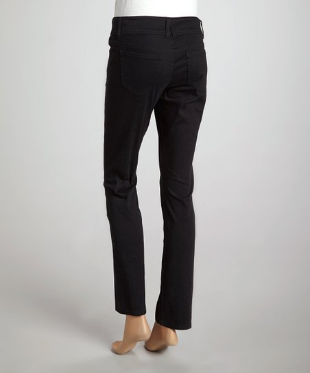 Black Straight-Leg Pants - Women