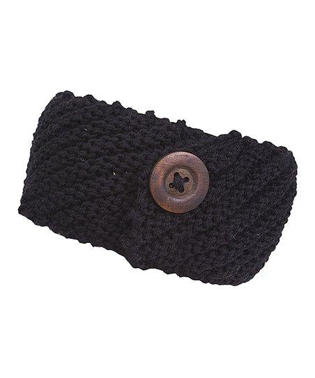 Black Button Headwrap