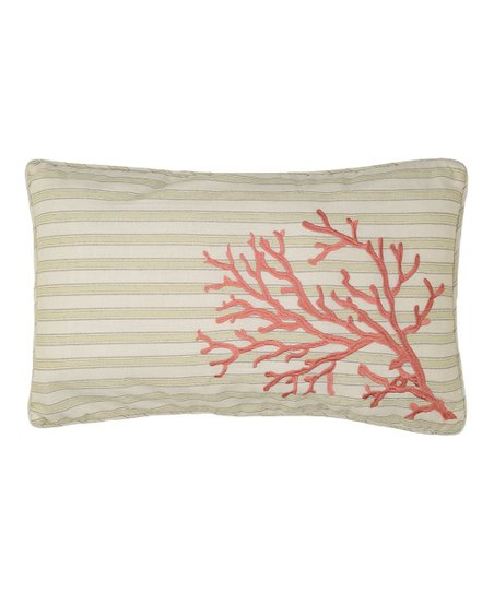 Pink & Beige Coral Pescador Throw Pillow