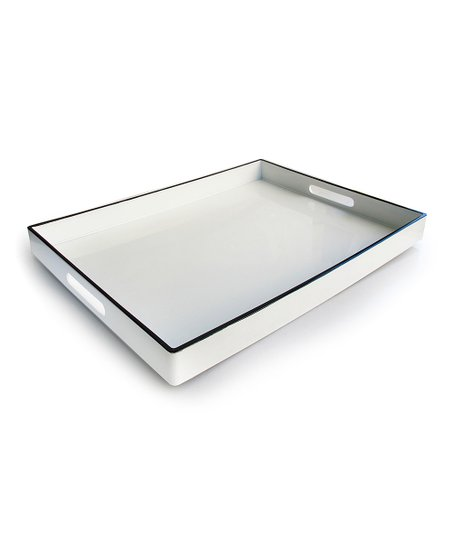Black Line Rectangular Tray