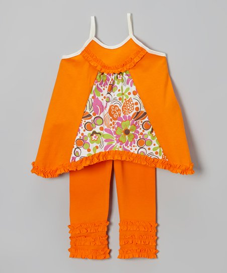 Bright Orange Swing Tunic & Leggings - Infant, Toddler & Girls