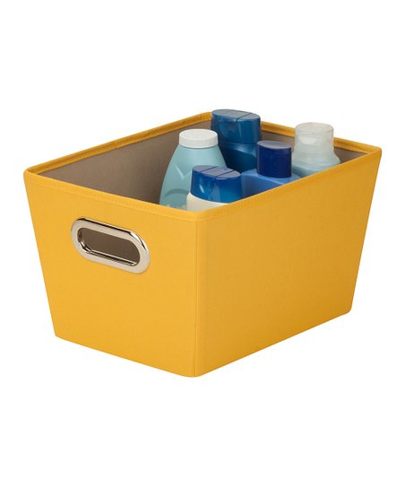 Yellow Small Storage Bin