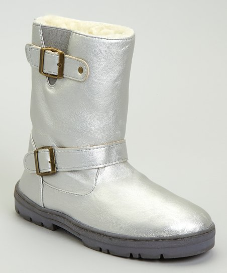 Silver Metallic Paige Boot