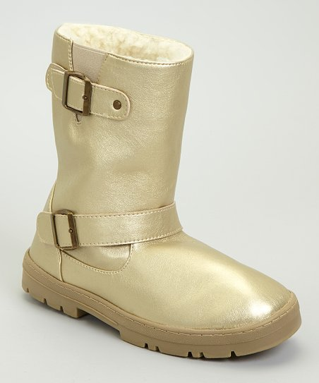 Gold Metallic Paige Boot