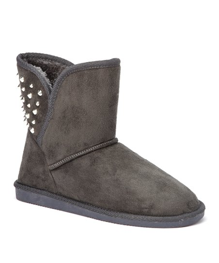 Gray & Silver Studded Boot