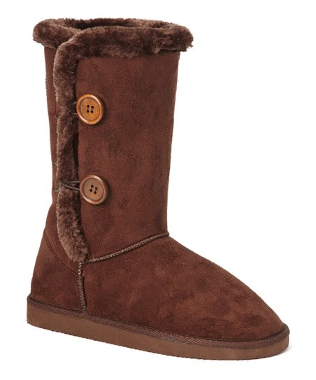 Brown Tall Toggle Boot