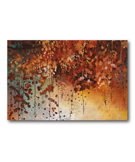 Cascading Leaves Canvas Wall Art