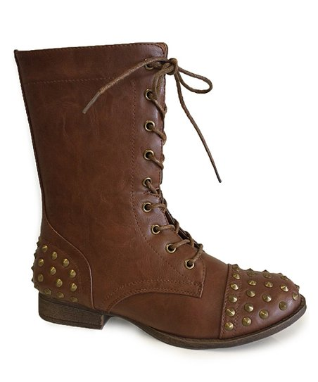 Cognac Studded Libby Boot