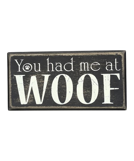 'At Woof' Wall Sign