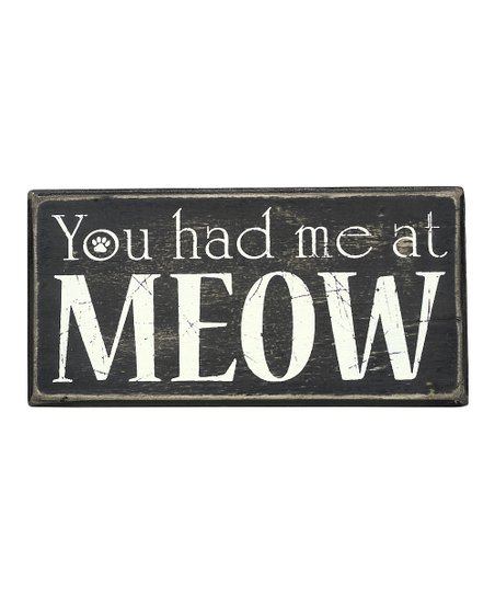 'At Meow' Wall Sign