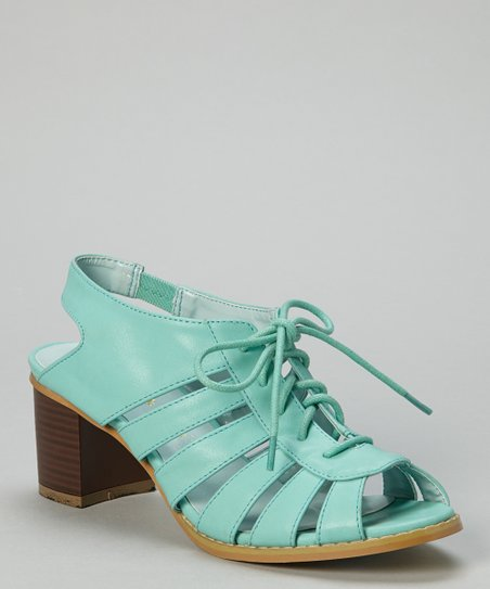 Blue Strappy Wendy Peep-Toe Sandal