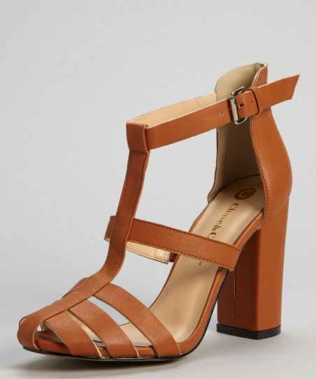 Tan Nola Strap Pump