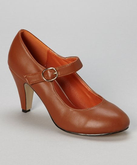 Brown Kimmy Mary Jane Pump
