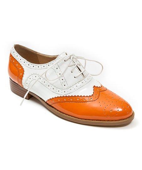 Orange Frenchy Leather Oxford