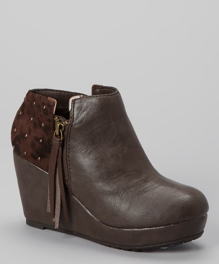Brown Balbina Wedge Boot