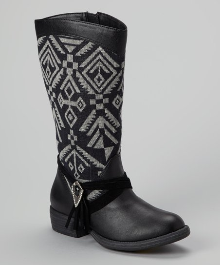 Black & Gray Penny Boot