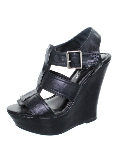 Black Rita Wedge Sandal