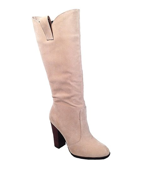 Blush Faux Suede Boot