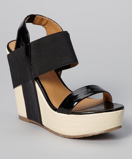 Black Barbary Wedge Sandal