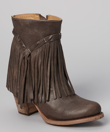 Brown Fringe Rumour Cowboy Boots