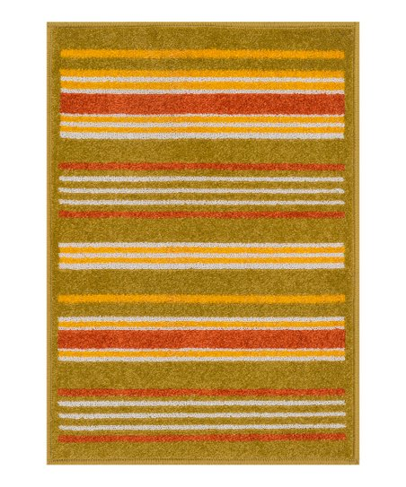 Mustard & Red Stripe Terrace Indoor/Outdoor Rug