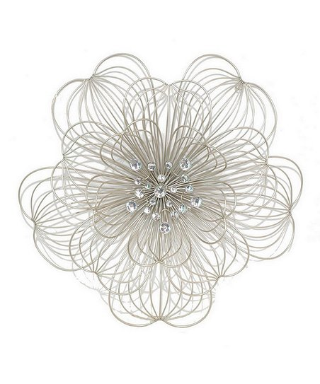 Metal Floral 19.75'' Wall Art