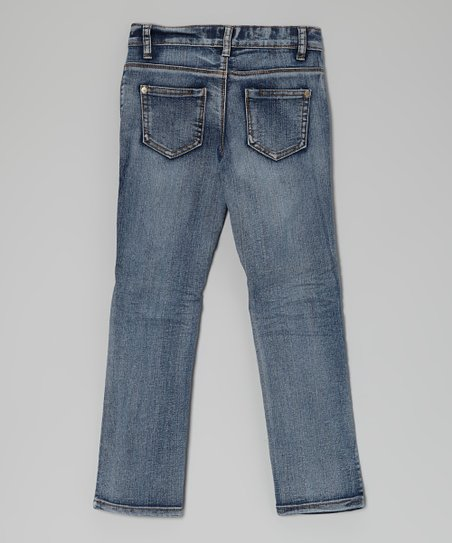 Light Wash Distressed Skinny Jeans - Girls