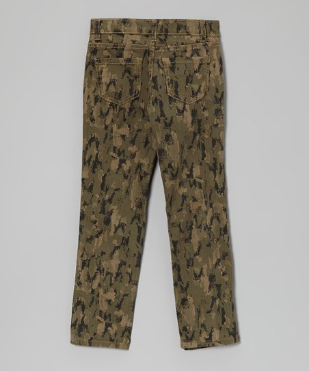 Olive Camo Skinny Jeans - Toddler & Girls