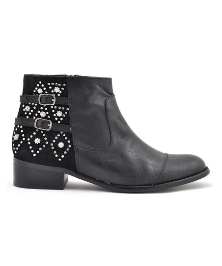 Black Fabled Ankle Boot