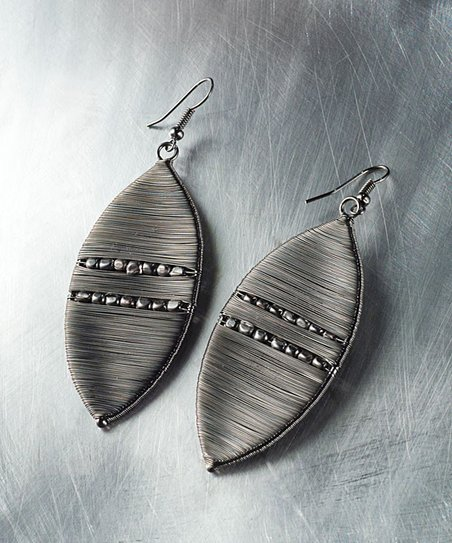 Gunmetal Marquis Drop Earrings