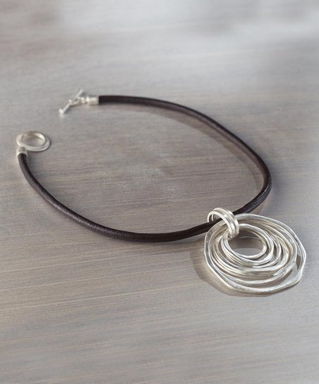 Silver Open Circle Pendant Necklace