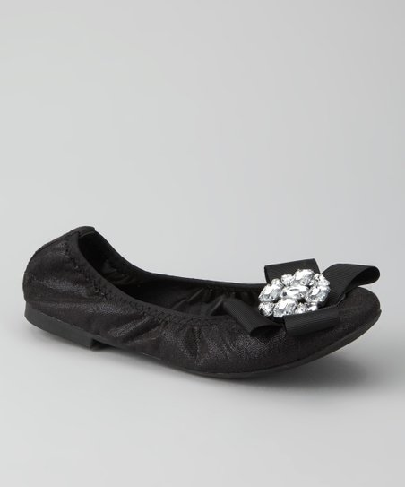 Black Twisty Ballet Flat