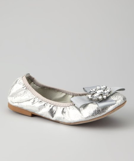 Silver Twisty Ballet Flat